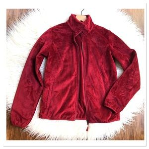 The North Face Women's Red Full ZIP Up Jacket M